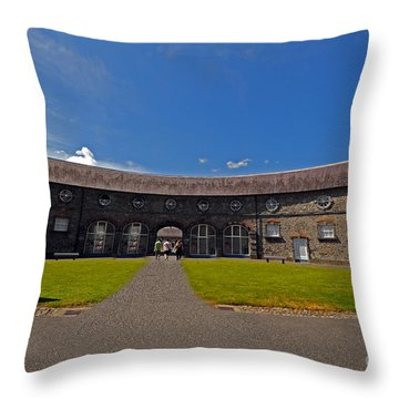 Castle Yard Kilkenny Castle Throw Pillow