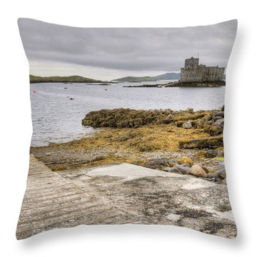 Castlebay In Barra Throw Pillow by Ray Devlin