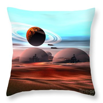 Castles In The Sand Throw Pillow by Corey Ford