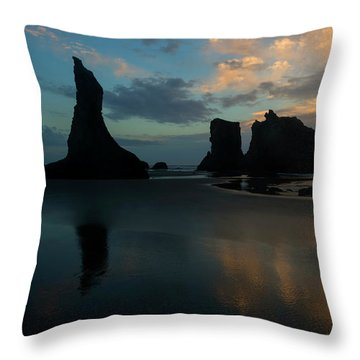 Throw Pillow featuring the photograph Castles In The Sand by Mike Dawson