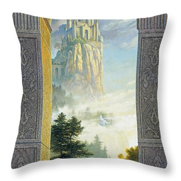 Throw Pillow featuring the painting Castles In The Sky by Greg Olsen