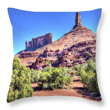 Throw Pillow featuring the photograph Castleton Tower by Alan Toepfer