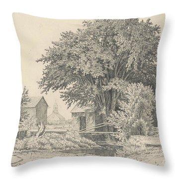 Castleton, Vermont, 1871 Throw Pillow