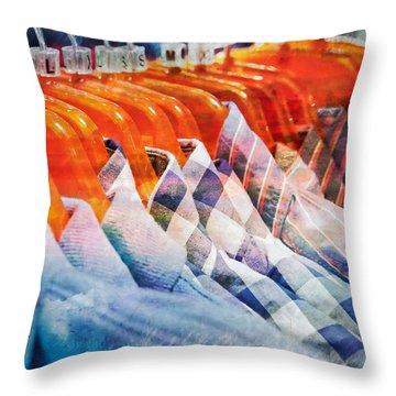 Casual Shirts Throw Pillow