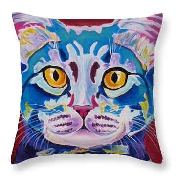 Cat - Mystery Reboot Throw Pillow by Alicia VanNoy Call