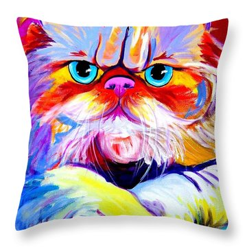 Cat - Tigger Throw Pillow by Alicia VanNoy Call