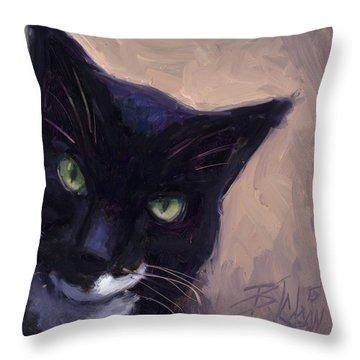 Cat A Tude Throw Pillow