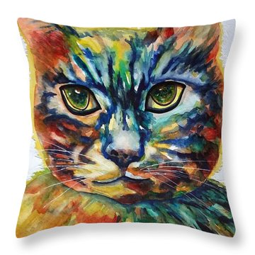 Cat A Tude Throw Pillow