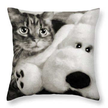 Andee Design Bw Throw Pillows
