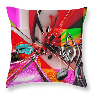 Cat And Mouse Art Collection Throw Pillow
