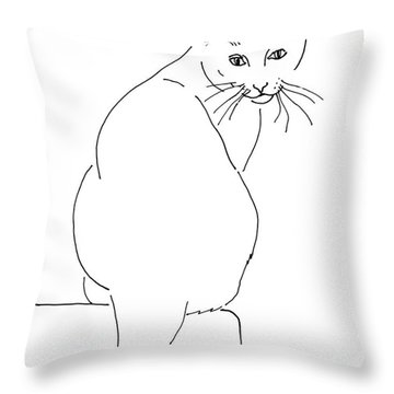 Cat-artwork-prints Throw Pillow