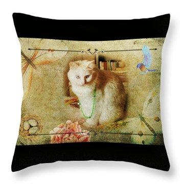 Kitty Cat Composite Art II Throw Pillow