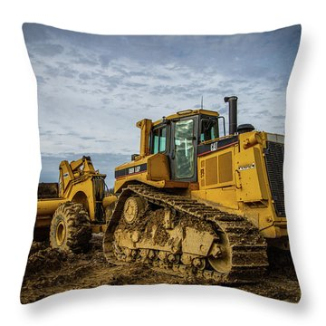 Cat Construction Throw Pillow