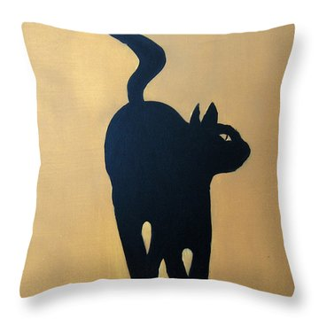 Cat Dance..... Optical Illusion Throw Pillow by Patrick Trotter