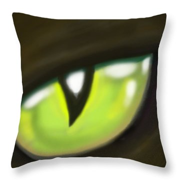 Cat Eye Throw Pillow by Kevin Middleton