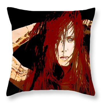 Cat Eyes Throw Pillow by Tbone Oliver