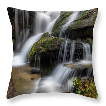 Cat Gap Loop Trail Waterfall Throw Pillow