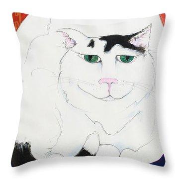 Cat II - Cat Dozing Off Throw Pillow