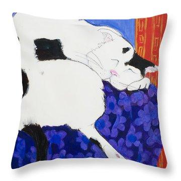 Cat IIi Peaceful   Throw Pillow