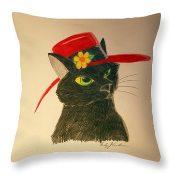 Cat In The Red Hat Throw Pillow