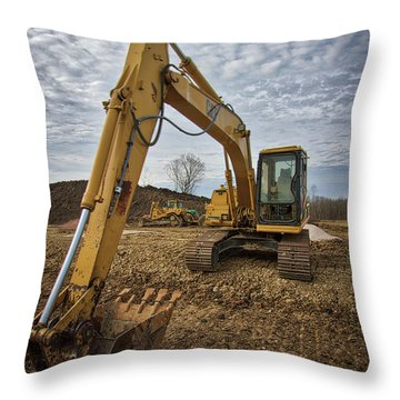 Cat Machinery Throw Pillow