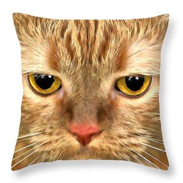 Cat Musya Throw Pillow by Sergey Lukashin