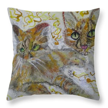 Cat Named Phoenicia Throw Pillow