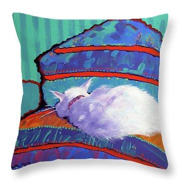 Cat Nap Throw Pillow