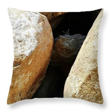 Throw Pillow featuring the digital art Cat Nap - Giglio Castello - Giglio Island, Italy by Joseph Hendrix