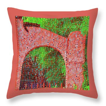 Cat On Enfield Throw Pillow