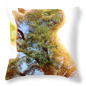 Cat Or Tree Throw Pillow