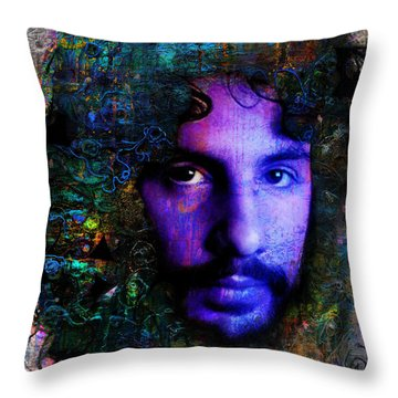 Cat Stevens Throw Pillow