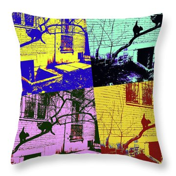 Cat Story Throw Pillow