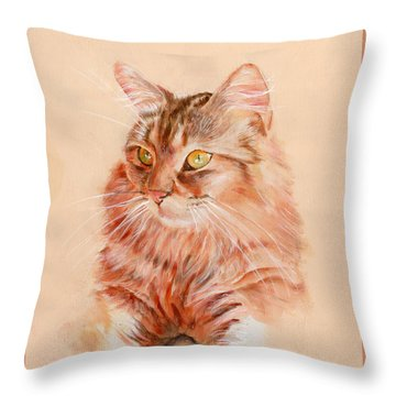 Warming In The Sun Throw Pillow