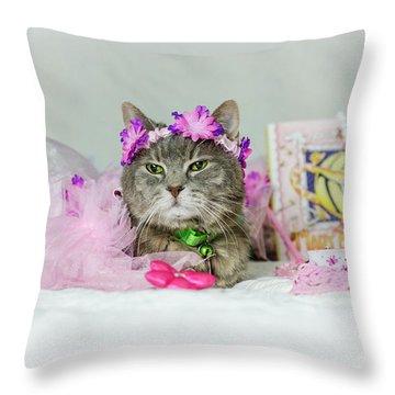Cat Tea Party Throw Pillow