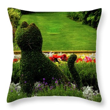 Cat Topiary Belfast Throw Pillow