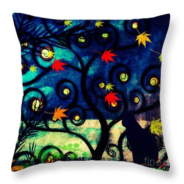 Cat Watch  Throw Pillow by Kim Prowse