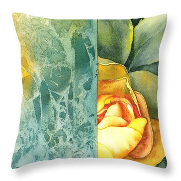 Catalina Throw Pillow by Casey Rasmussen White