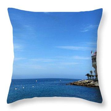 Catalina Island Casino Throw Pillow