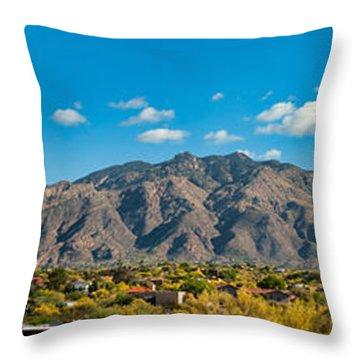 Throw Pillow featuring the photograph Catalina Mountain Panorama by Dan McManus