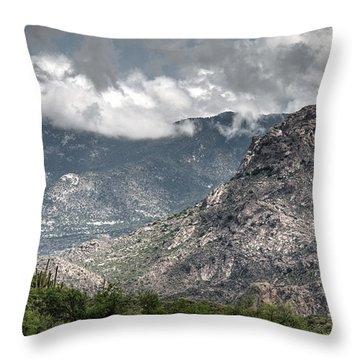 Catalina Mountains Throw Pillow