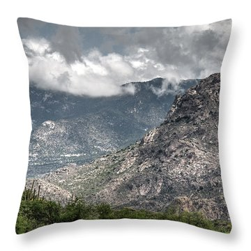 Catalina Mountains Throw Pillow