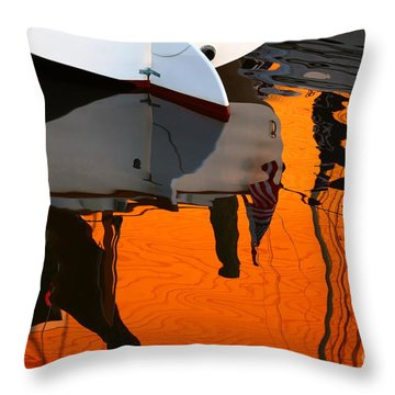 Catboat Reflection Throw Pillow
