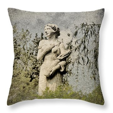 Catch Her Breath Throw Pillow by Bill Cannon