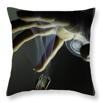 Catch The Sprit Throw Pillow by Ramabhadran Thirupattur