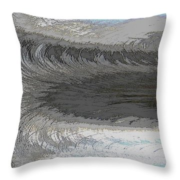 Catch The Wave Throw Pillow by Tim Allen