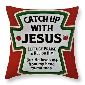 Throw Pillow featuring the photograph Catch Up With Jesus by Rob Hans