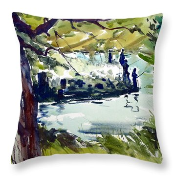Catching Summer Dreams Framed Matted Glassed Throw Pillow