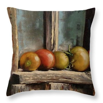 Catching Summer Rays Throw Pillow