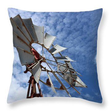 Throw Pillow featuring the photograph Catching The Breeze by Stephen Mitchell